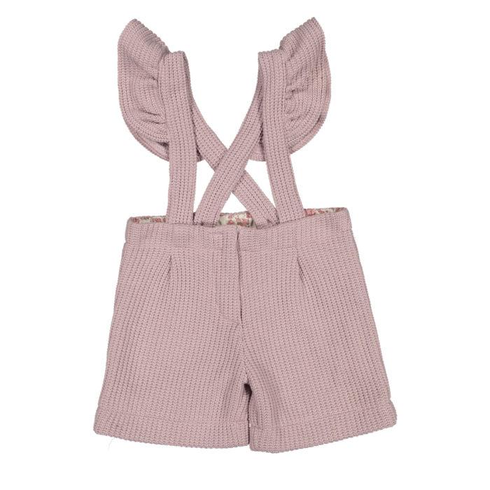 Calções cor de rosa com alças