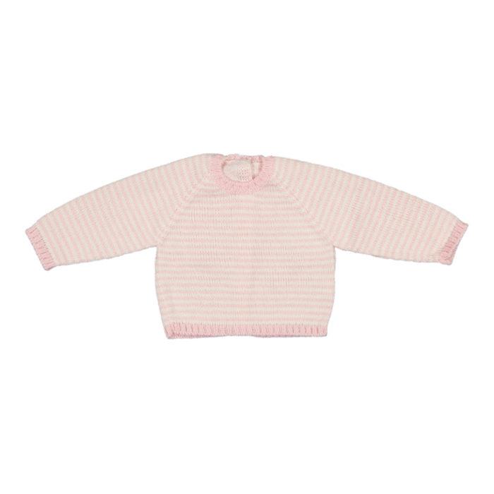Camisola riscas cor de rosa